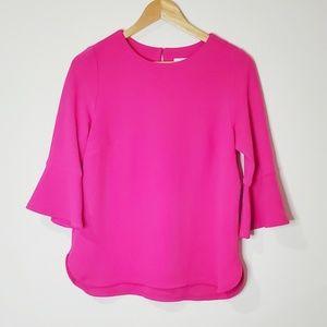 Joseph Ribkoff Pink Textured Top Size 6